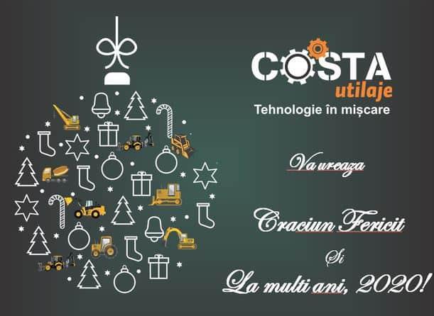 Costa Utilaje va ureaza Craciun Fericit si La Multi Ani 2020!
